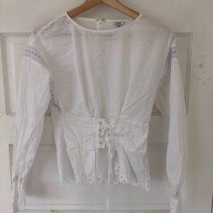 Guess Lace Up Top